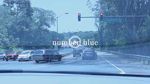number blue